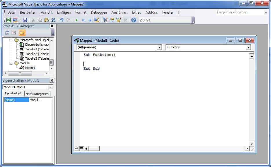 Excel VBA Programmierung