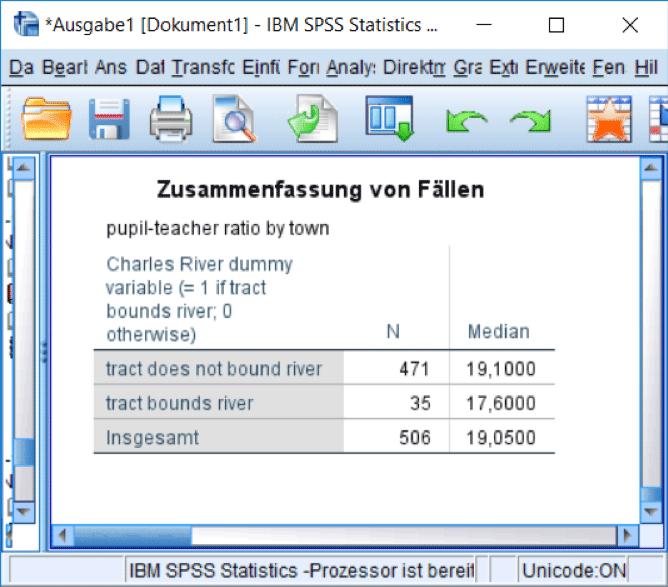 SPSS Output: Mediane
