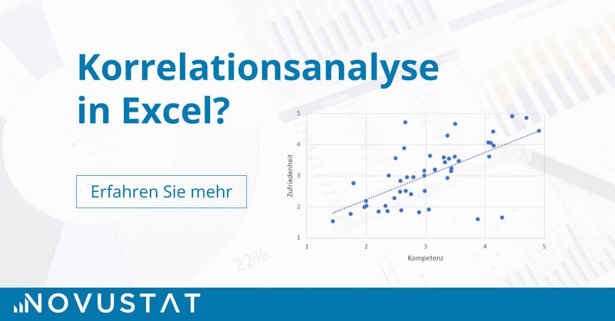 Titelbild für Korrelationsanalyse Excel