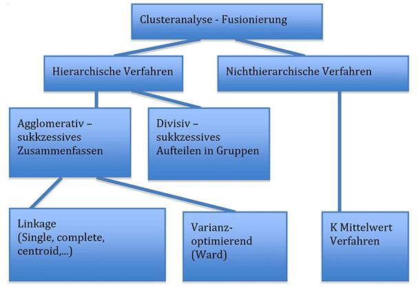 Übersicht über verschiedene Verfahren der Clusteranalyse