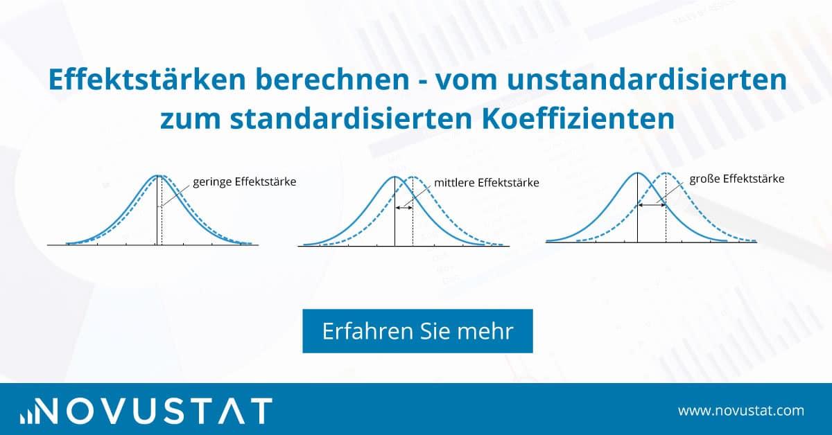 Effektstärke berechnen - vom unstandardisierten zum Beta Koeffizient