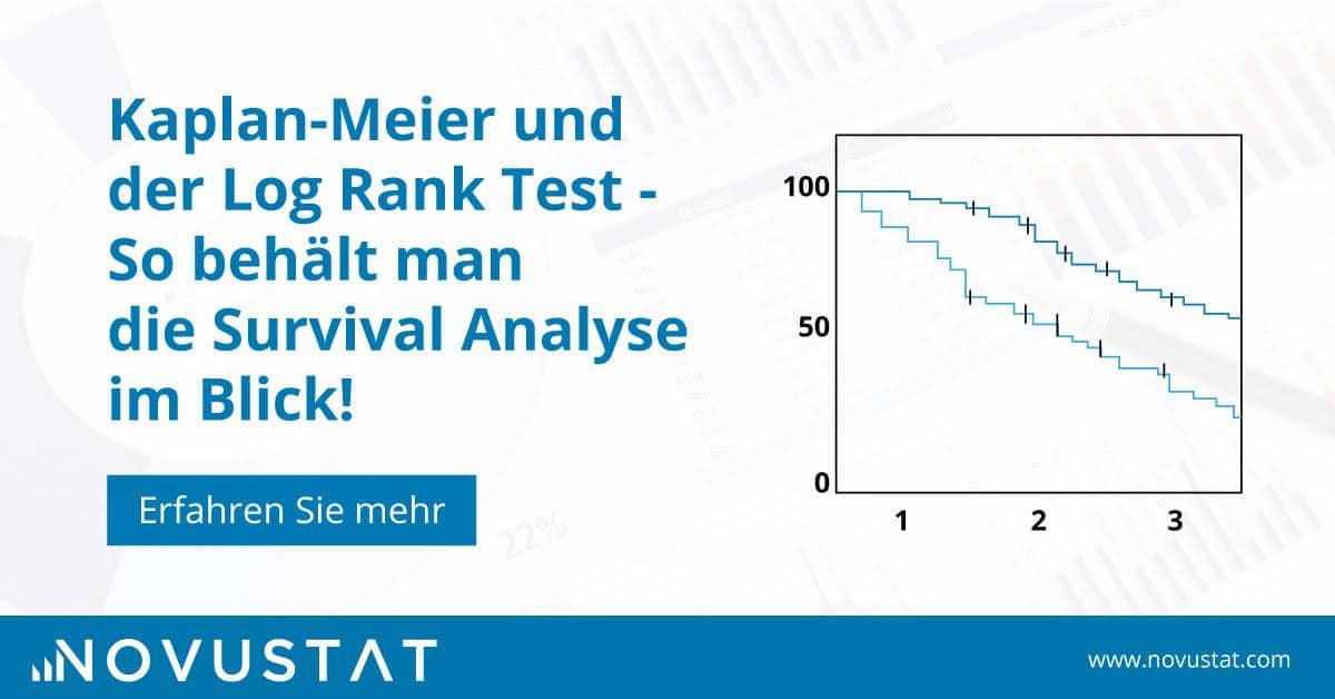 Kaplan-Meier und der log rank Test - So behält man die Survival Analysis im Blick!