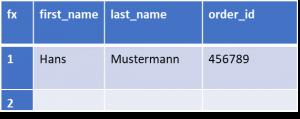 unstrukturierte Daten und strukturierte Daten in Excel Tabelle
