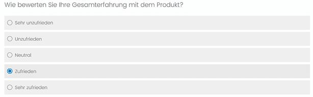 Kundenzufriedenheit messen im Kundenzufriedenheit Fragebogen durch den Customer Satisfaction Score oder CSAT