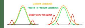 Für das Quality Engineering zerlegen Messsystemanalysen die Gesamtprozessvariabilität in zwei Variabilitätskomponenten