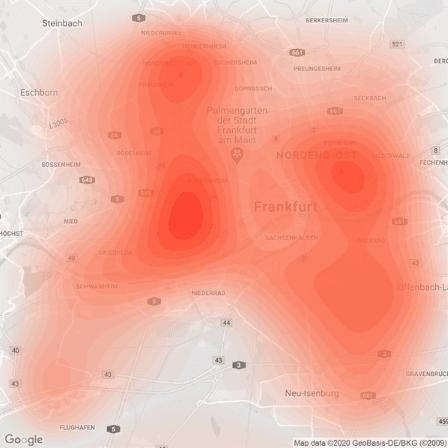 Heatmap Immobilien Big Data